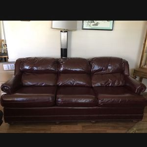3 Seat Leather Couch for Sale in Antioch, CA
