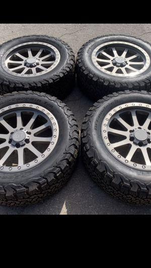 "Like new 20"" black Rhino Rims and BFG Ko2 Tires 6 Lug 20 Wheels 20s Rines y llantas 2017 F 150 Expedition 2016 F-150 rine 2019 llantas 2013 y 2014 Pl for Sale in Dallas, TX"