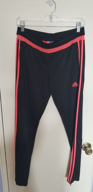 Adidas 3 Stripes Womens Climacool Athletic pants Black/Hot Pink, size M for Sale in Brooklyn, NY