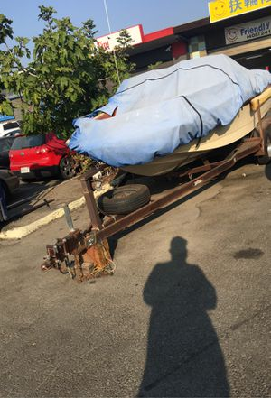 Free Classic 87 sunny boat with trailer for Sale in San Jose, CA