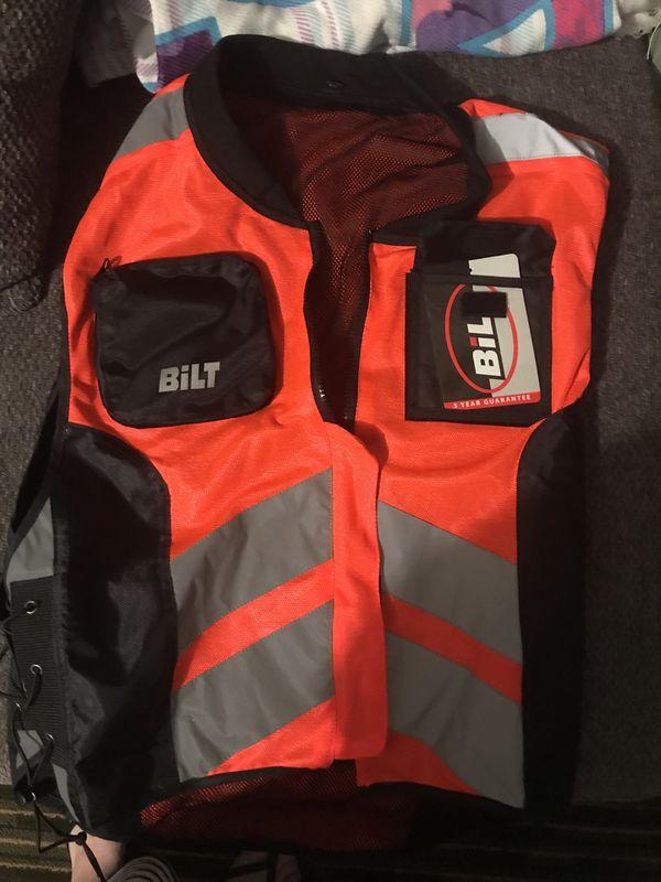 Reflective motorcycle vest