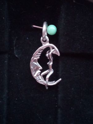 Sterling silver woman and the moon pendant for Sale in Jacksonville, AR