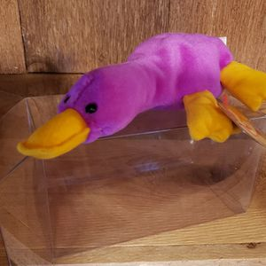 BEANIE BABY **RARE** TY 'PATTI THE PLATYPUS' (PVC PELLETS) ~ RETIRED IN PLASTIC CASE for Sale in West Palm Beach, FL