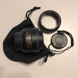Nikon DX AF-S Nikkor 35mm 1.8 G Lens for Sale in Pleasant Hill, CA
