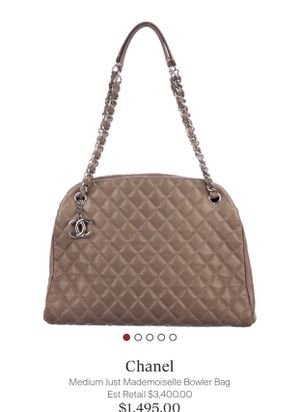 Chanel Medium Mademoiselle Bowler Bag for Sale in Houston, TX