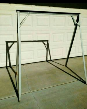 Metal Porch Swing Frame (Price is Firm) for Sale in Hesperia, CA