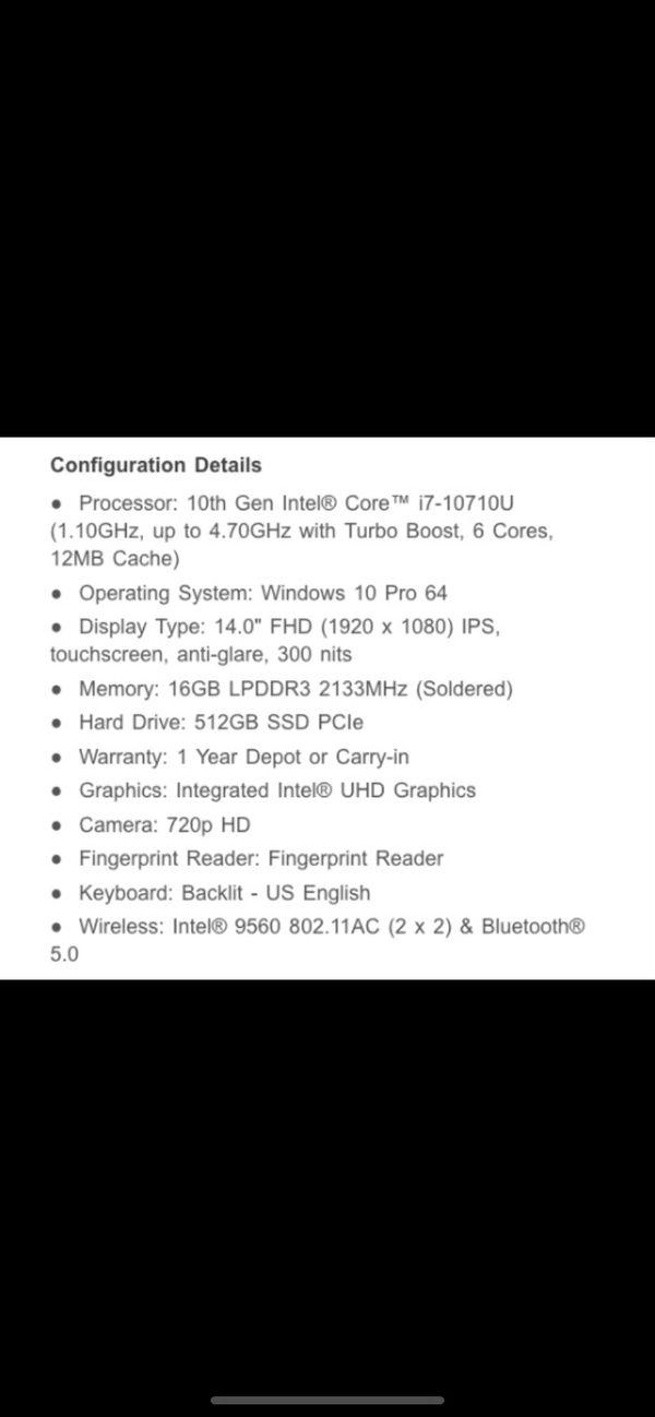 Lenovo X1 Carbon ThinkPad 7th Gen