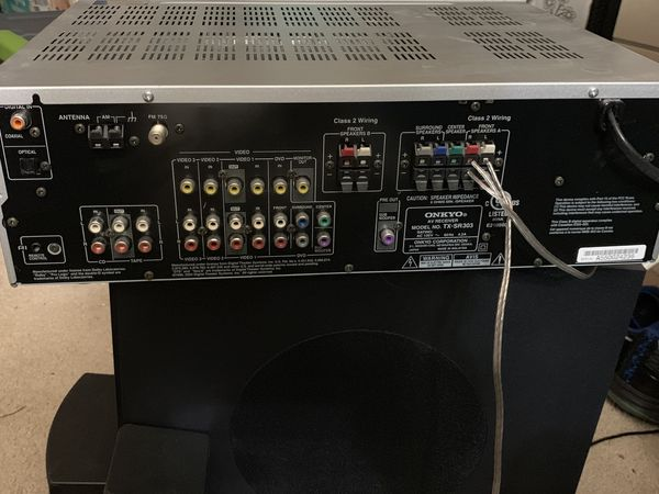 Onkyo Receiver and 5.1 Speaker System