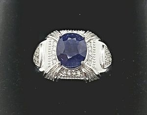 NATURAL 3 CARAT SAPPHIRE MENS CERTIFIED MENS RING for Sale in Fairfax, VA