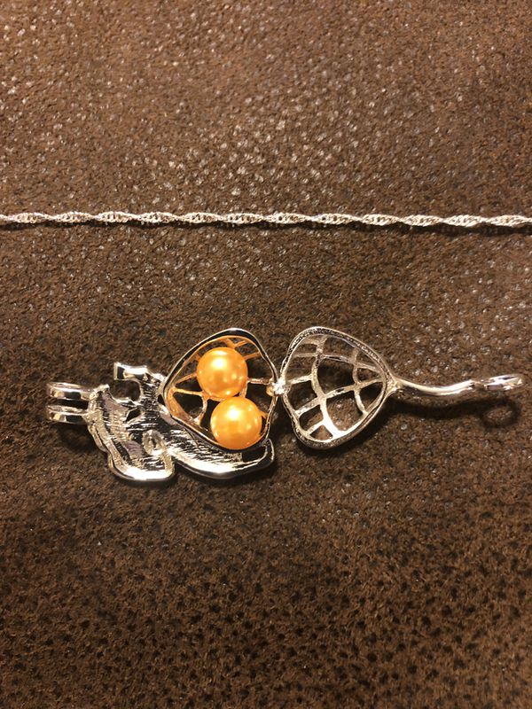 Disney Beauty and the Beast Pearl Cage Necklace