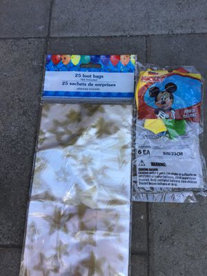Mickey balloons plus 25 loot bags for Sale in Sunnyvale, CA