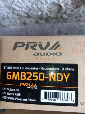 "6"" PRV new speakers for Sale in Lancaster, PA"