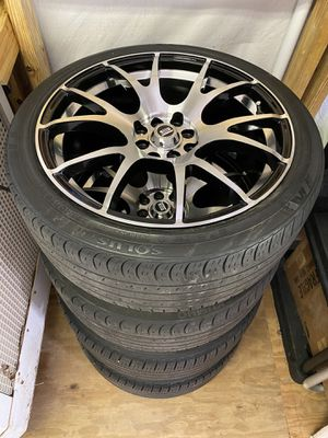 "18"" Spec-1 Wheels & tires 4 lug 4x100 & 4x114.3 for Sale in Tampa, FL"