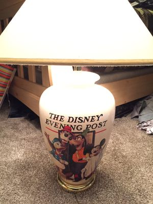 Pair of Disney Evening Post Lamps for Sale in Fontana, CA