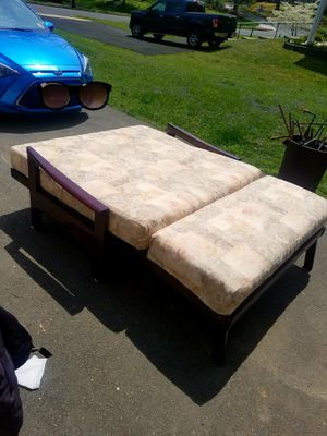 Red Wood Full Size Futon for Sale in Fairfax, VA