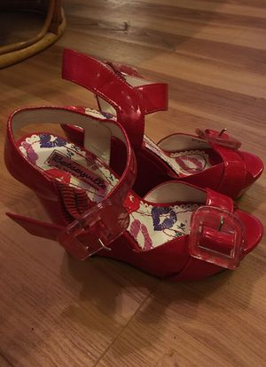 Betseyville patent leather wedge sandals for Sale in Denver, CO