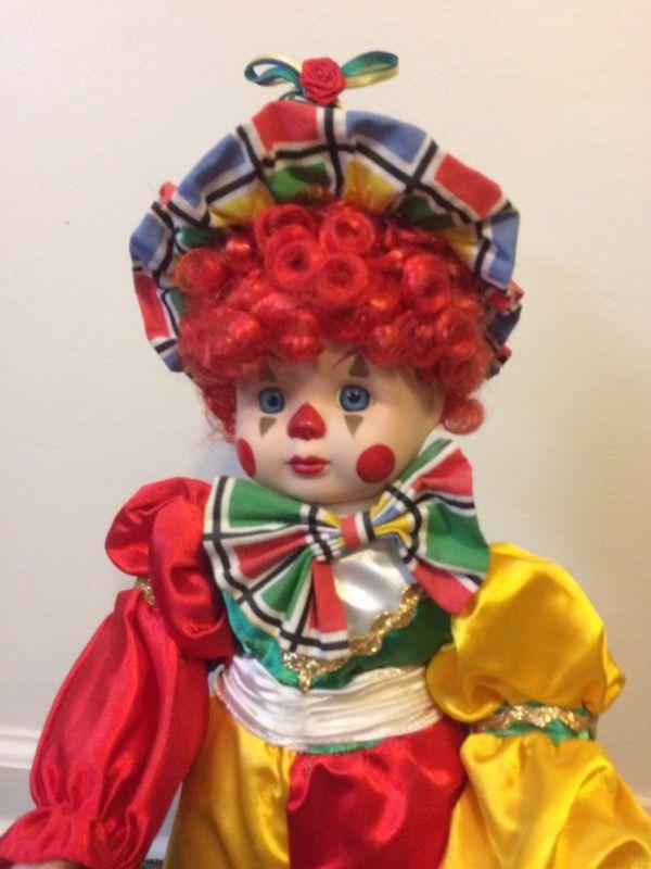 Porcelain clown doll
