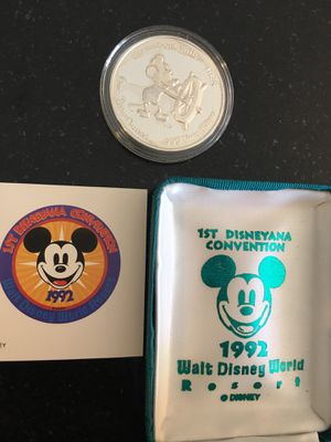 Disney 1 troy oz .999 fine silver coin for Sale in Hopewell Junction, NY