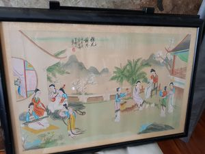 Chinese painting - a set of two for Sale in Pittsburg, CA