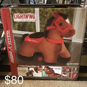 Lightning: Electric Ride-On Horse for Kids | Radio Flyer for Sale in Alexandria, VA