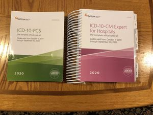 ICD-10-CM and ICD-10-PCS books, 2020 for Sale in Cleveland, OH