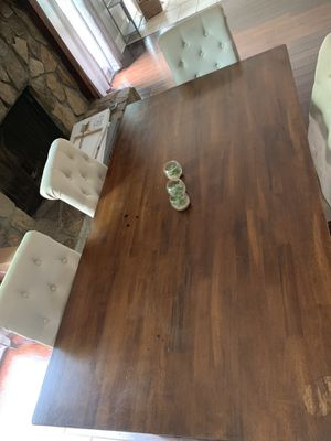 6 chair wooden diner table for Sale for sale  Lilburn, GA