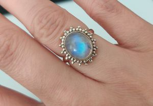 Rainbow moonstone ring sterling silver size 5.75 for Sale in El Paso, TX