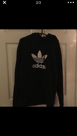Adidas black and white medium hoodie for Sale in Frisco, TX