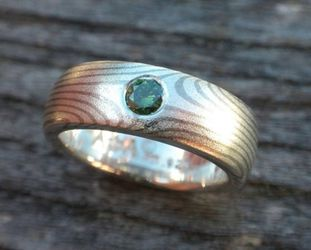 Sterling Silver Green Diamond Wedding Band for Sale in Woodinville,  WA