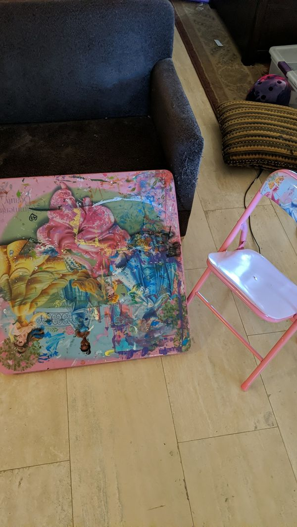 Free Kid table and chair.