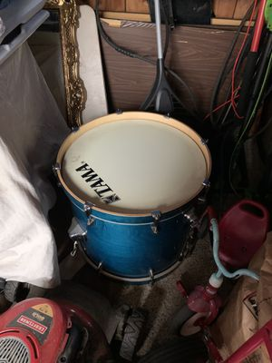 Tama 7 pc fu7pc drum set with Zylgen symbols throne and foot pedal for Sale in Portland, OR