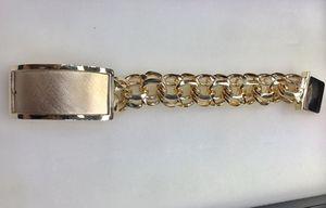 10 karat gold chino link bracelet custom made 250 g( item # M250) for Sale in Houston, TX