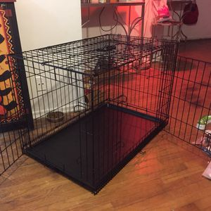 Large Dog crate Double Door With Divider for Sale in Beverly Hills, CA
