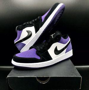 Brand New Air Jordan 1 Low Court Purple Size 10 1/2 for Sale in Riverside, CA
