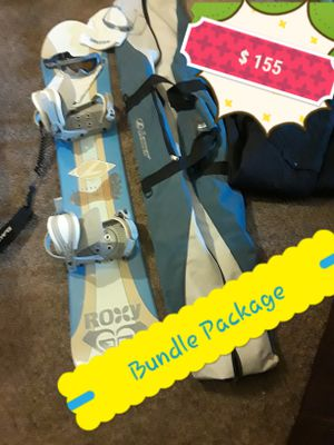 Lamar Snowboard 148cm & Gear Bundle for Sale in Clovis, CA