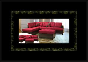 Red sectional with ottoman for Sale in Crofton, MD