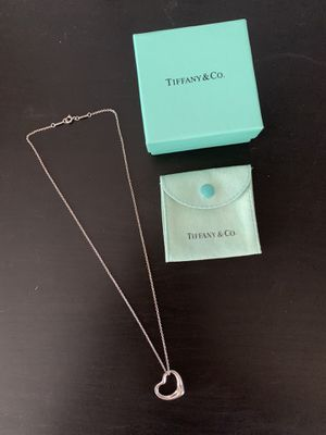 "Tiffany & Co. Large Open Heart Pendant with 18"" Necklace for Sale in Baldwin Park, CA"