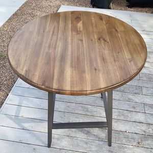 World Market/Cost Plus Wood + Metal Hudson Pub Table for Sale in Los Angeles, CA