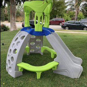 step 2 playhouse playground climber with kids slide and benches for Sale in Fontana, CA