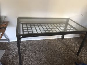 IKEA glass table with 4 chairs for Sale in Silver Spring, MD
