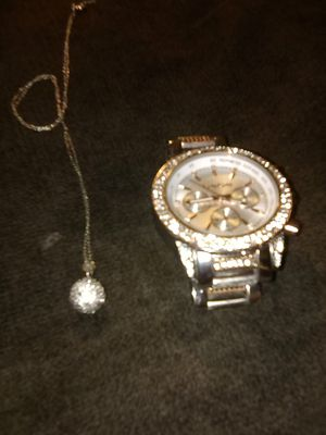 Bebe Rose Gold Watch, Italy 925 Silver w/ 925 Charm for Sale in San Diego, CA