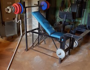Weight bench with leg press for Sale in Madison Heights, VA