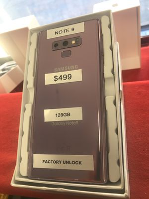 Samsung Galaxy Note 9 Purple 128GB Factory Unlocked for Sale in The Bronx, NY
