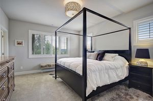Cal King canopy bed and 2 matching nightstands for Sale in Issaquah, WA