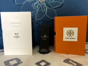 TORY BURCH, BURBERRY BLACK, No 5 L'EAU CHANEL Designer Women's Perfume Samples for Sale in San Diego, CA