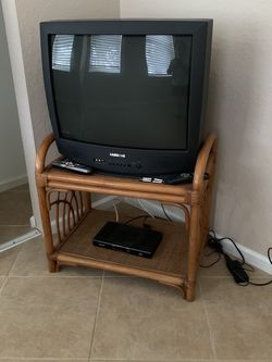 Working older TV and/or TV stand for Sale in Boynton Beach,  FL