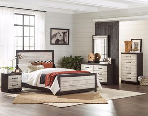 Gray and white plank finish bedroom set for Sale in Lexington, SC