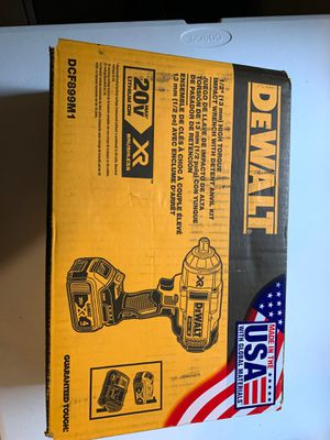 Dewalt 1/2 high torque impact wrench kit for Sale in Tacoma, WA