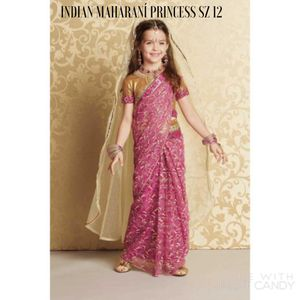 26. New Chasing Fireflies Indian Maharani Princess Halloween Costume with jewelry and veil. Girls SZ 12. for Sale in Arlington, VA
