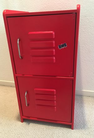Moving out - Two shelf Small red locker for Sale in San Jose, CA